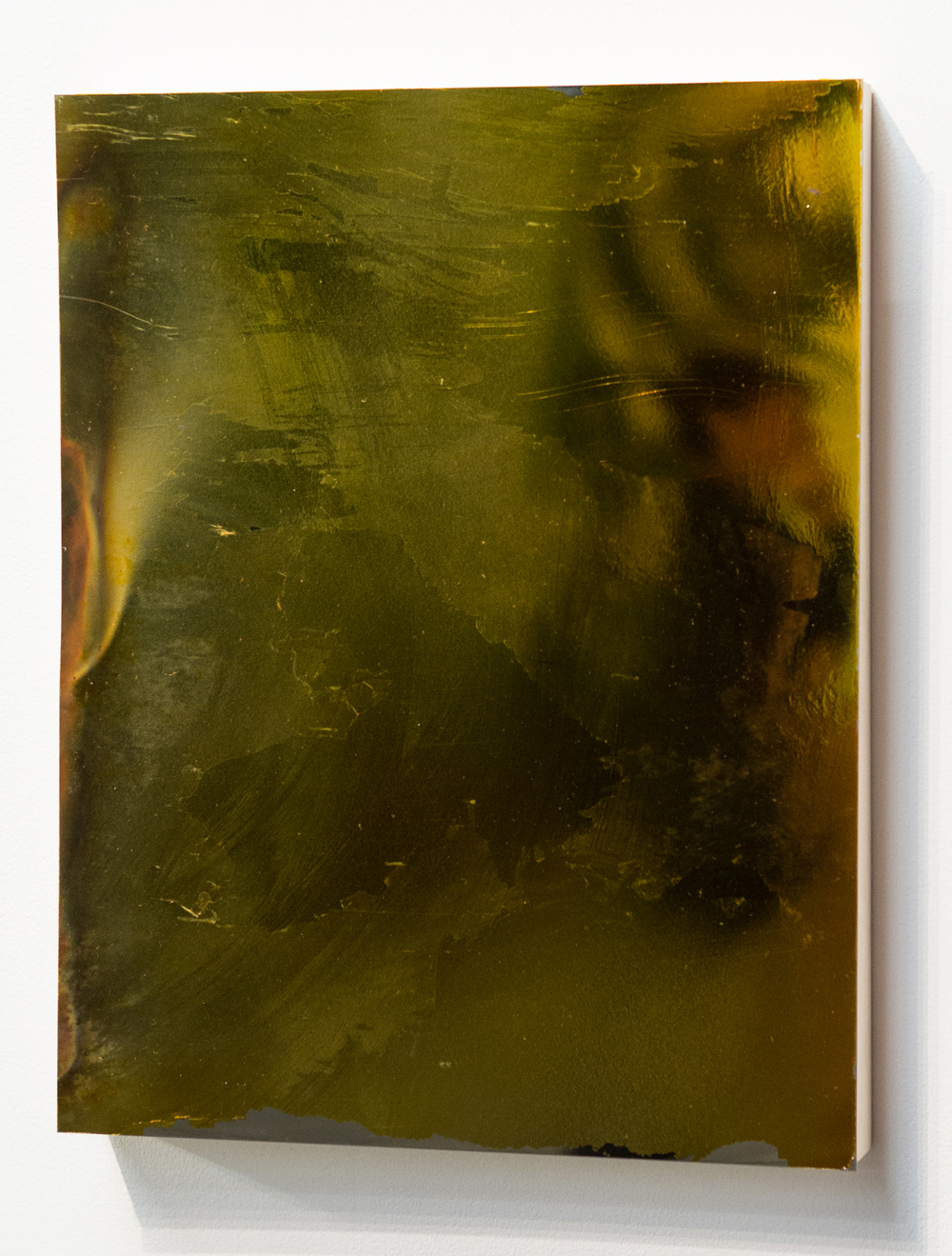 MLSL_09_Bunny  , 2015  Gold tint on stainless steel  18 x 14 in (45.72 x 35.56 cm)