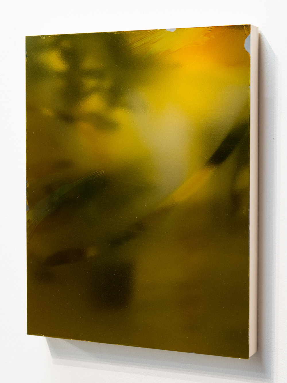 MLSL_11_Bunny  , 2015    Gold tint on stainless steel    18 x 14 in (45.72 x 35.56 cm)