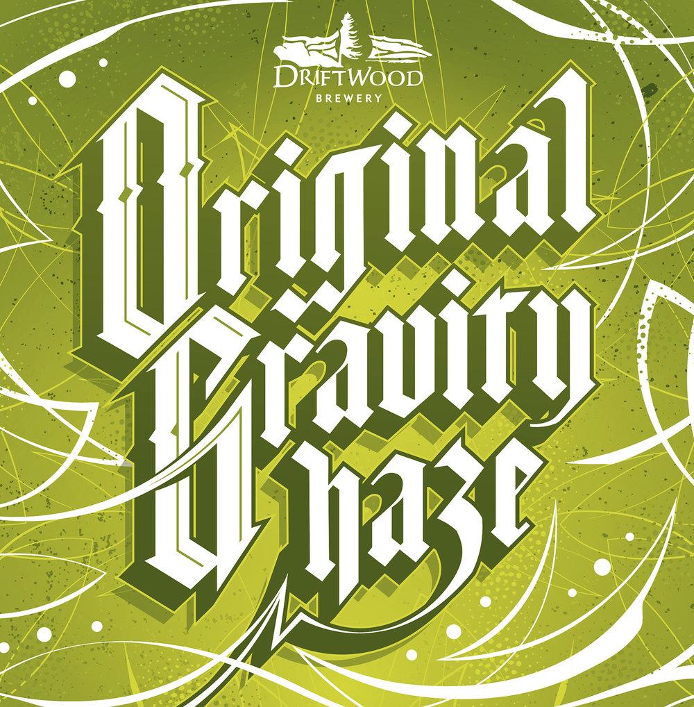 Original Gravity Haze packaging design, for Driftwood Brewery