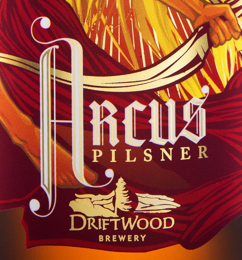 Packaging Design for Driftwood Brewery's Arcus Pilsner