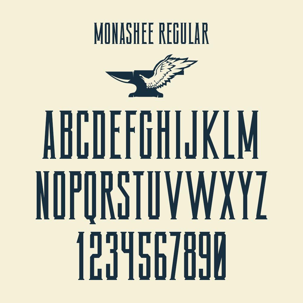 Custom Typeface Design for Monashee Spirits