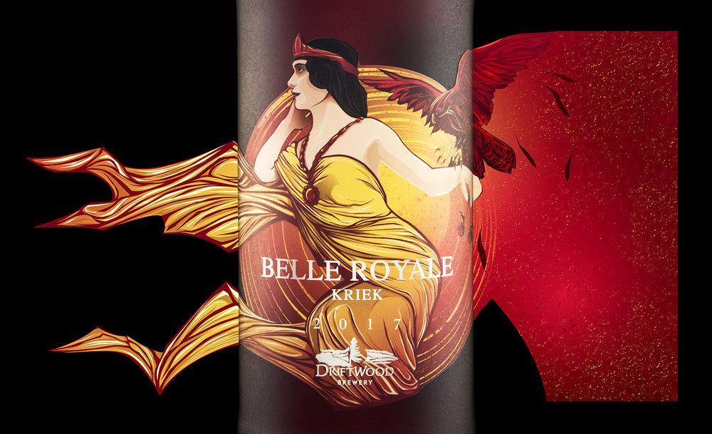 Packaging Design for Driftwood Brewery's Belle Royale Kriek