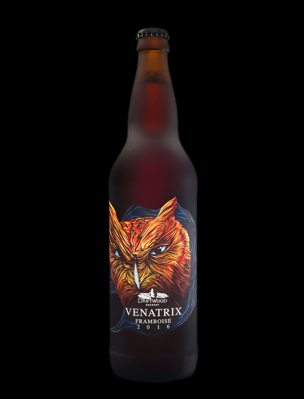 Packaging Design for Driftwood Brewery's Venatrix Framboise
