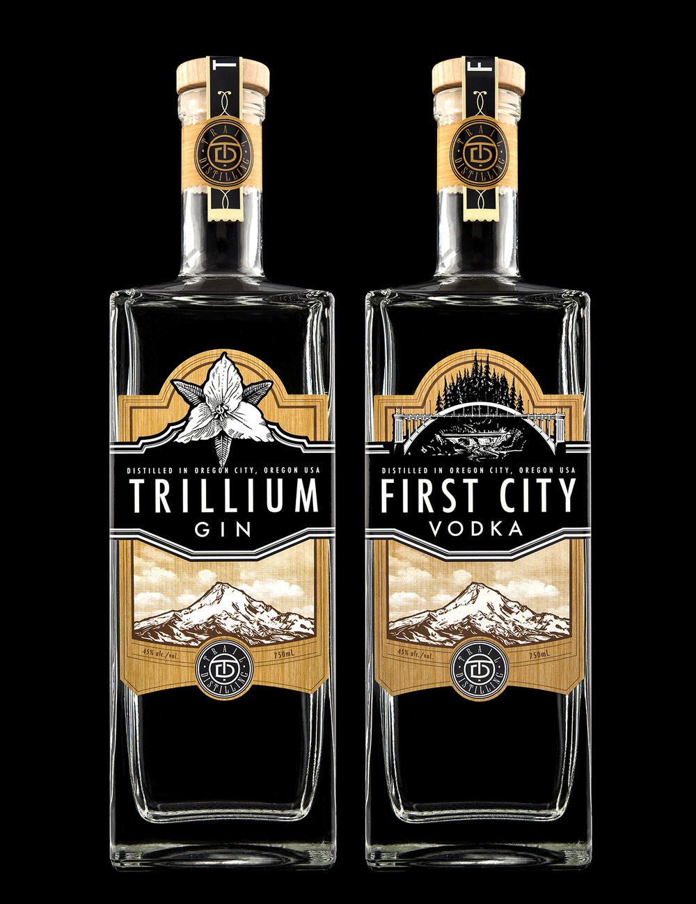 Branding and Packaging Design for Trail Distilling
