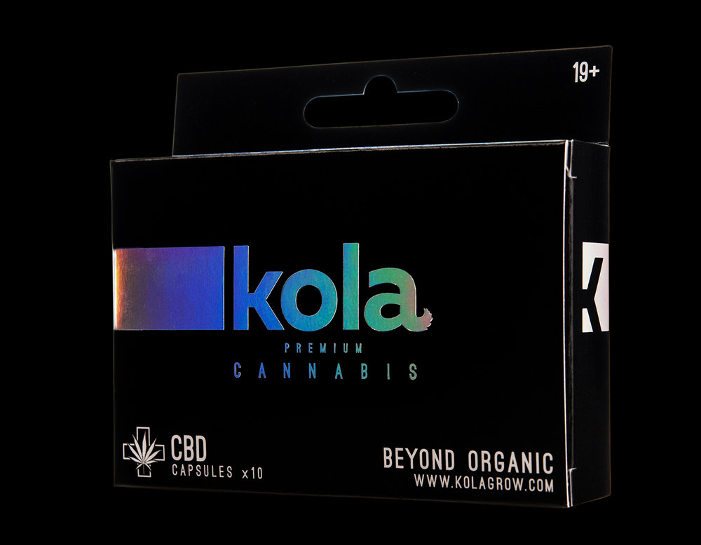 Branding and Packaging Design for Kola Premium Cannabis