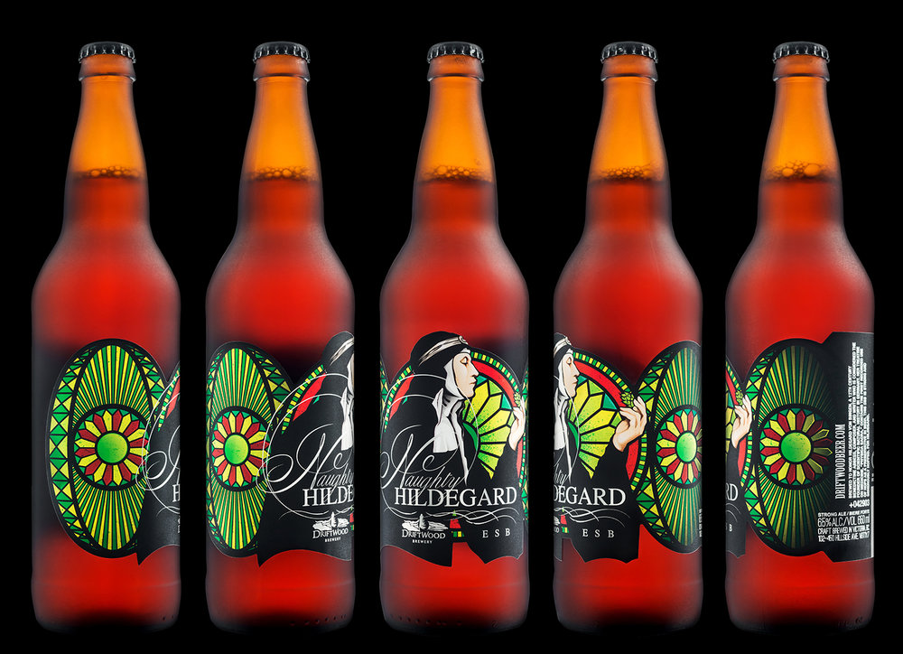 Packaging Design for Driftwood Brewery's Naughty Hildegard ESB