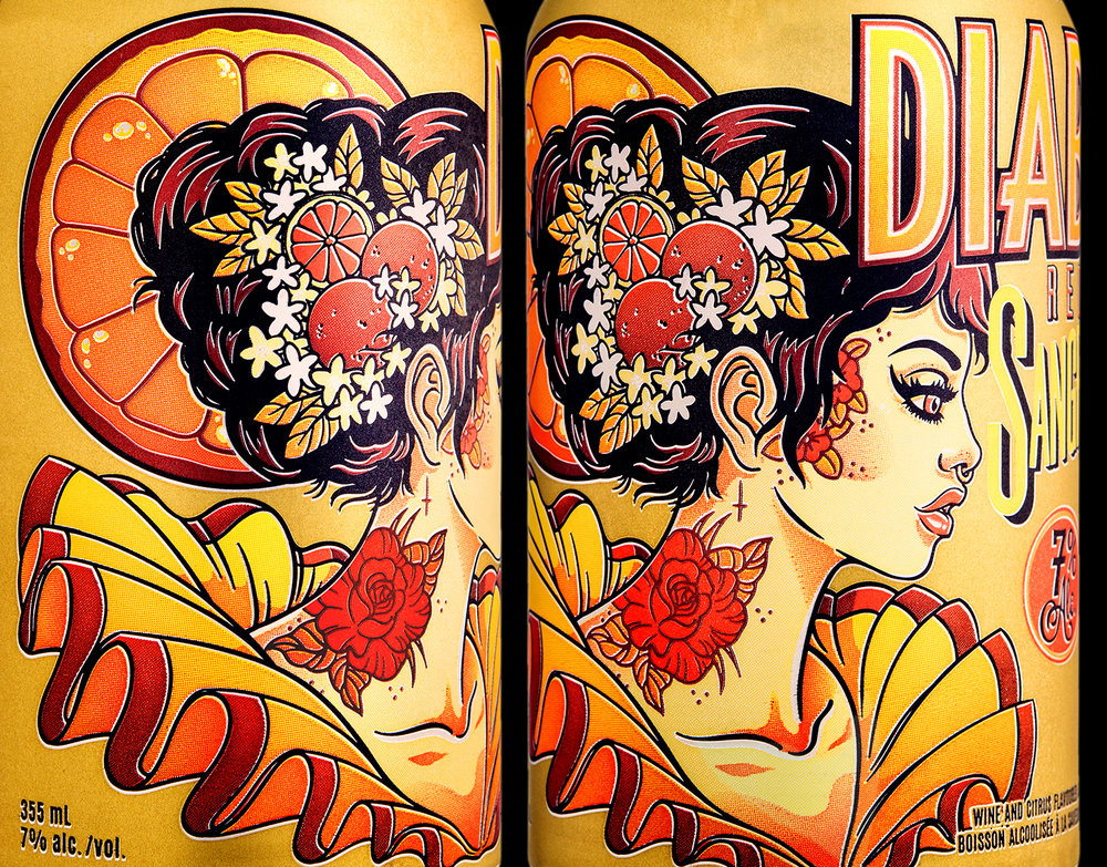 Packaging Design for Diabla Sangria