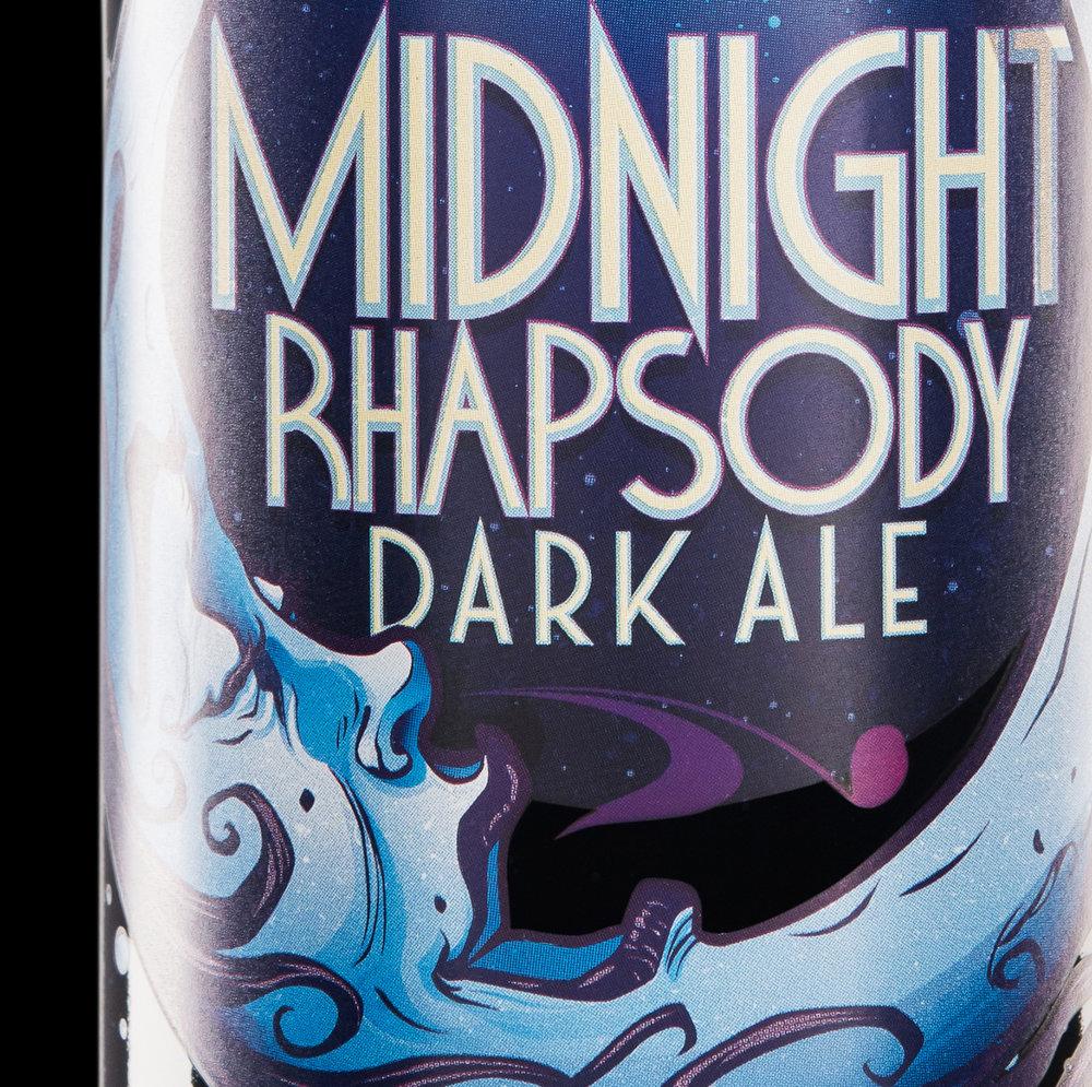 Packaging Design for Big Rock Brewery Midnight Rhapsody Dark Ale