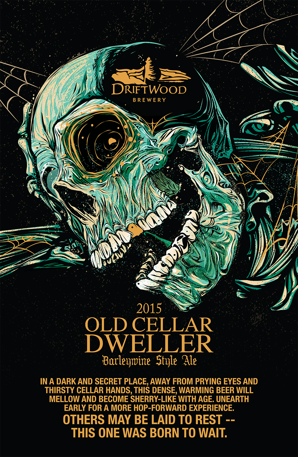 Poster Design for Driftwood Brewery's Old Cellar Dweller Barleywine