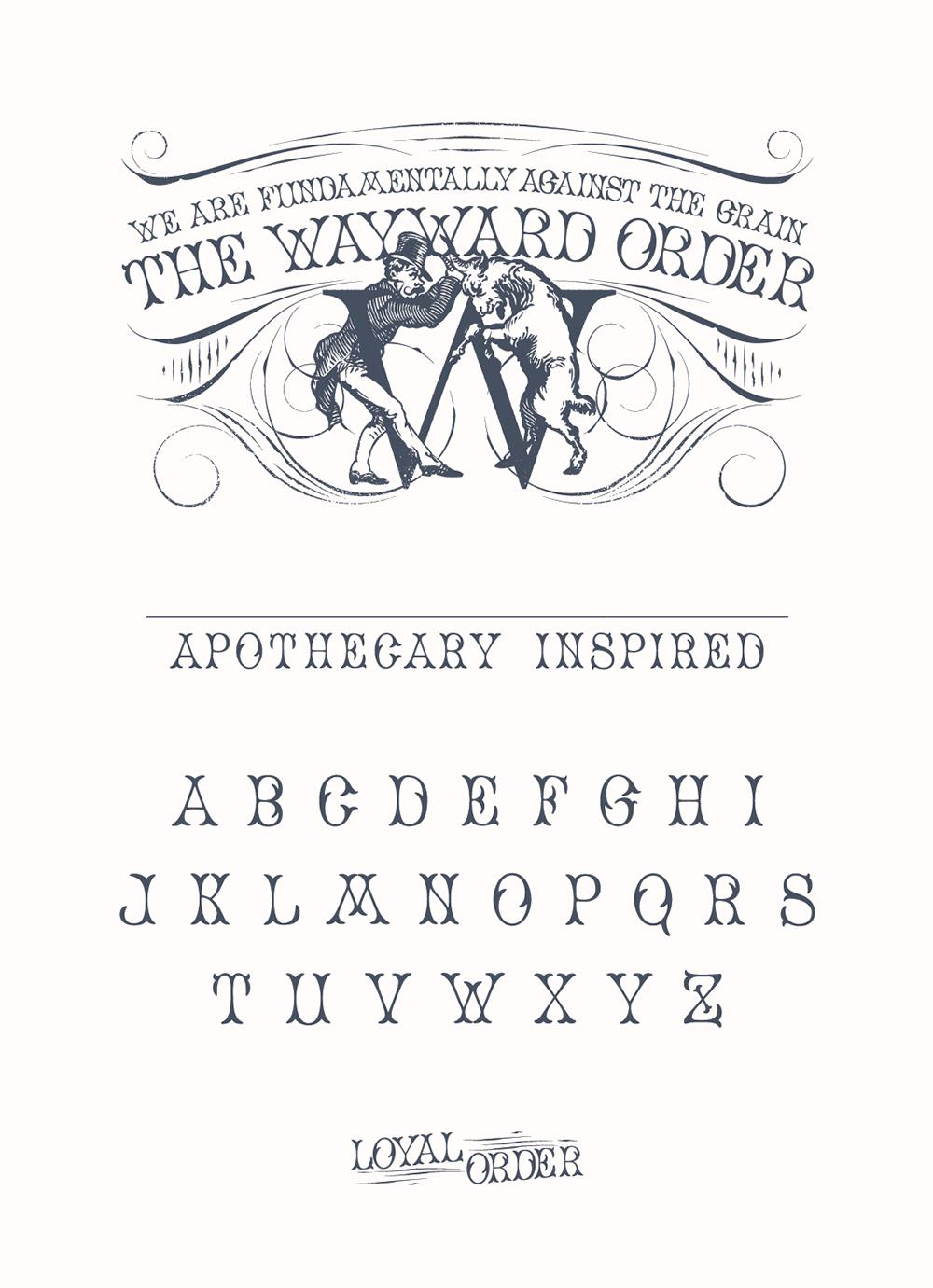 Packaging Design for Wayward Distillation House's Wayward Order