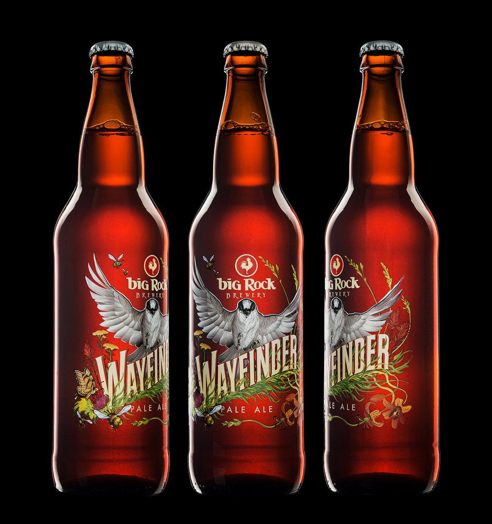 Packaging Design for Big Rock Brewery's Wayfinder Pale Ale
