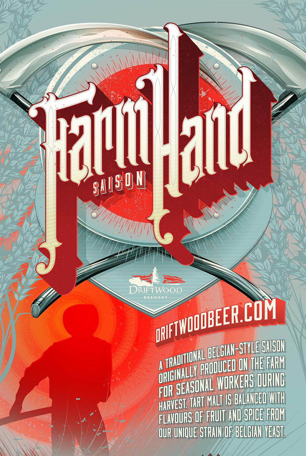 Poster Design for Driftwood Brewery's Farmhand Saison