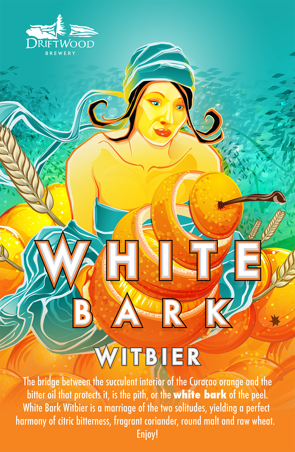 Poster Design for Driftwood Brewery's White Bark Witbier