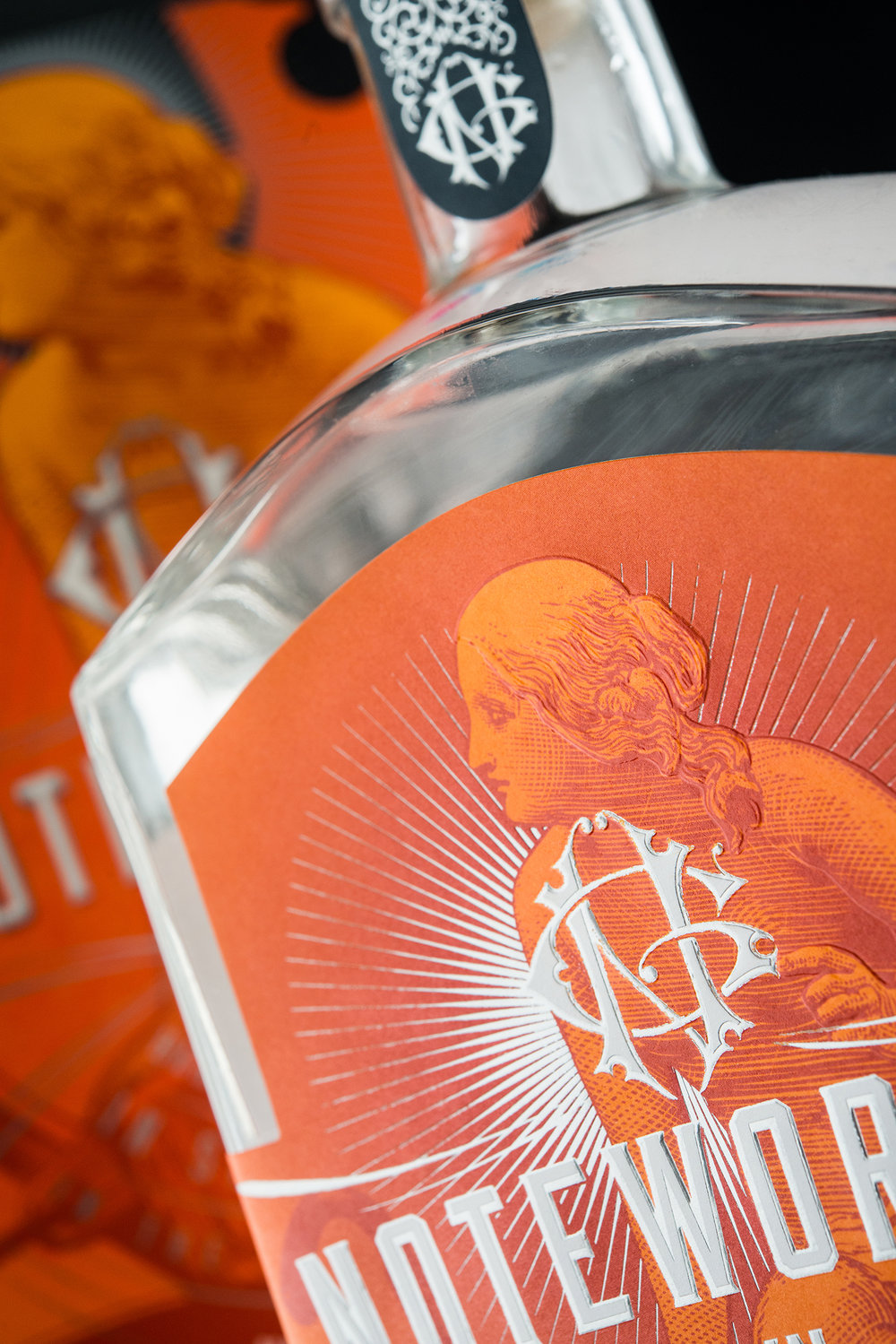Branding and Packaging Design for Dubh Glas Distillery's Noteworthy Gin