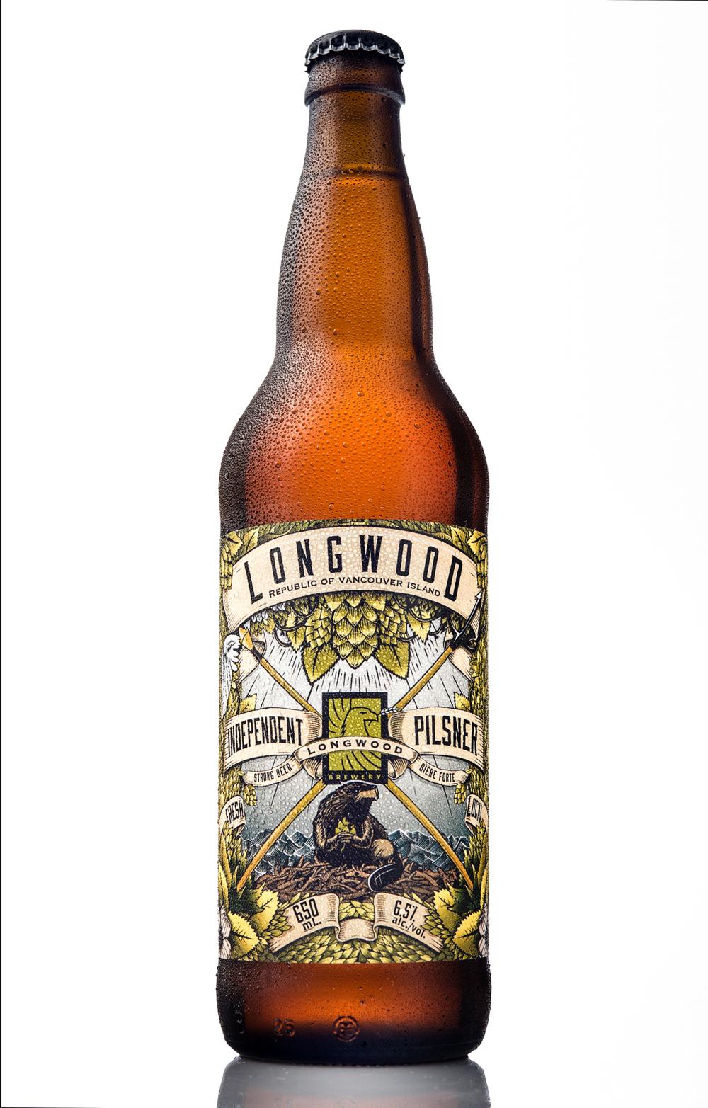 Packaging Design for Longwood Brewery's Independent Pilsner