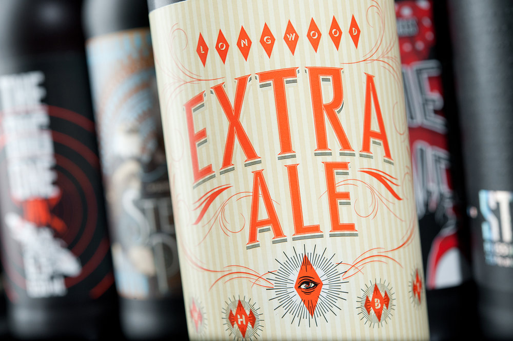 Packaging Design for Longwood Brewery's Extra Ale