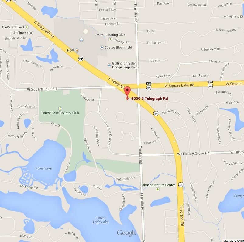 2550 S. Telegraph Rd, Suite 106  Bloomfield Hills, MI 48302