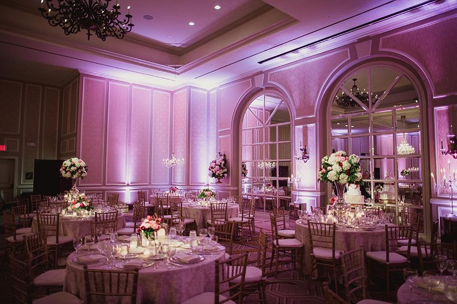 WIRELESS LIGHTING - My wireless lighting package includes all wireless LED lights and you get to pick the color. Up lighting turns a nuetral ballroom area into a personalized venue, perfectly matching your color scheme. Up lighting will enhance your décor, setting the mood for you and your guests throughout the reception. I can create any color in the rainbow and in between, without the ugly cables. By scrolling down you can see another nice lighting option to pair with lighting.