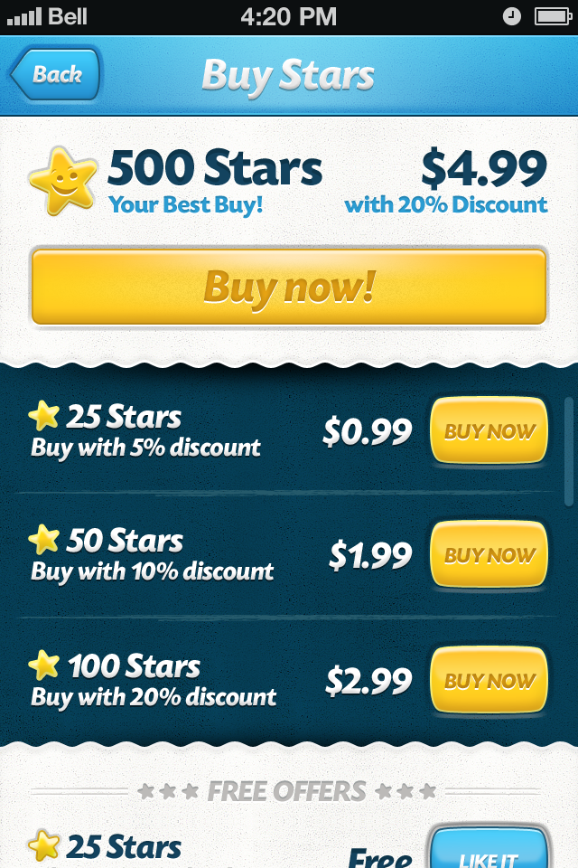 Buy Stars screen with free section.png