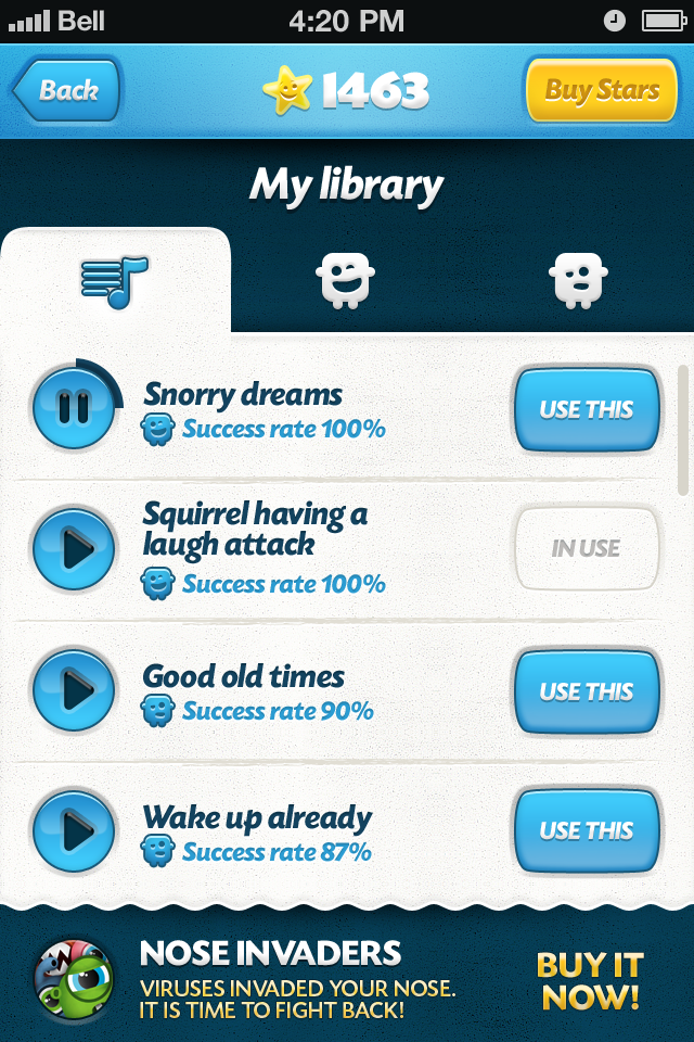 Effects screen - library with ads.png