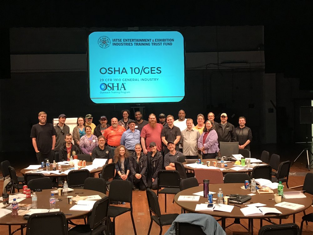OSHA 10/General Entertainment Safety in Lansing, MI | May 16 & 17, 2017