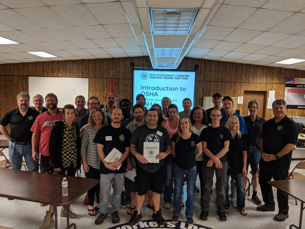 IATSE TTF OSHA 10/General Entertainment Safety in Nashville, TN | June 23-24, 2018