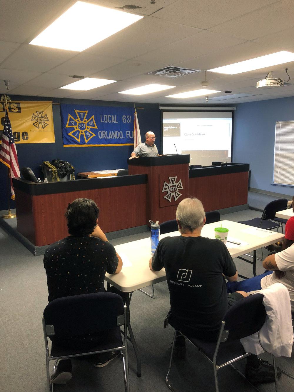IATSE TTF Safety First! Rigging Safety ILT in Orlando, FL | November 19, 2018