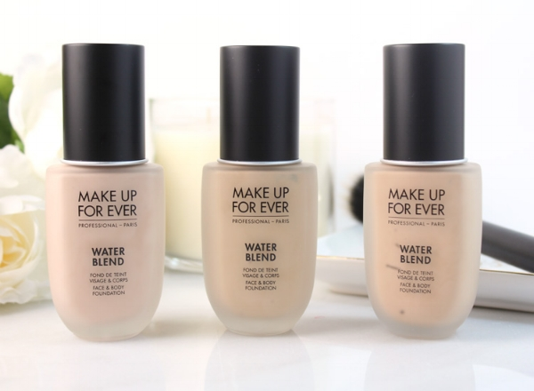 5. Make Up For Ever, Water Blend - Waterproof and lightweight. A great stand alone foundation for natural, radiant skin. (Think tinted moisturizer without the creamy heaviness.) This foundation is packed with hydration, too! I love priming with Water Blend under a fuller coverage foundation for special event makeups. $43
