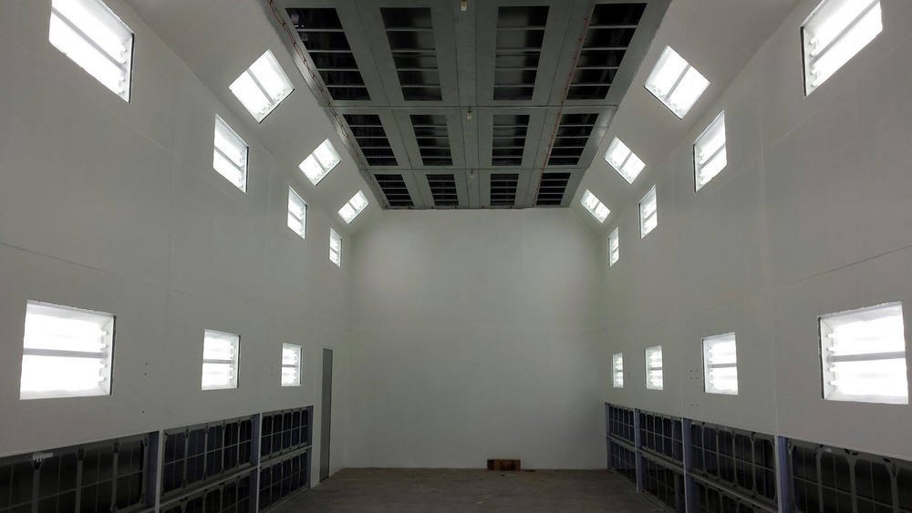 Another View of the Interior of the Large Paint booth.