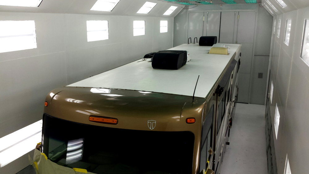 RV and Large Truck Paint Booth