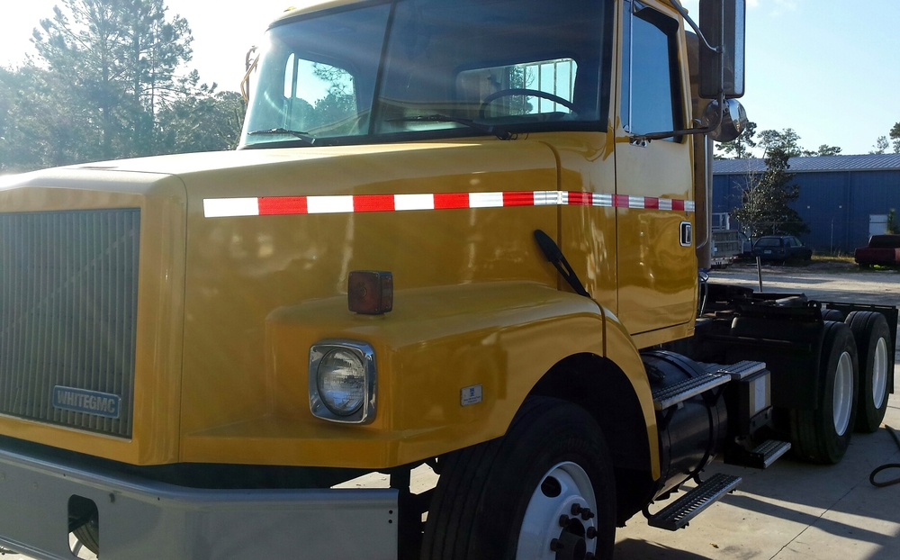 Our large vehicle paint booth can fit even the biggest semi trucks, RV's or equipment.