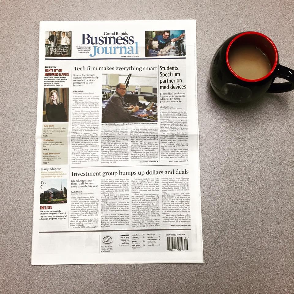 Matt Simms makes front page news