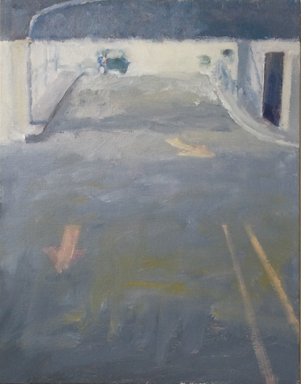 """Parking Arrows,"" 11""x14"", oil on canvas."