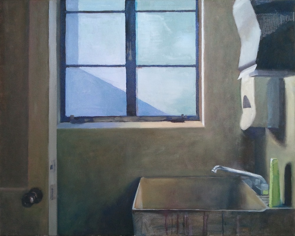 """Studio Sink,"" 24""x30"", oil on canvas."