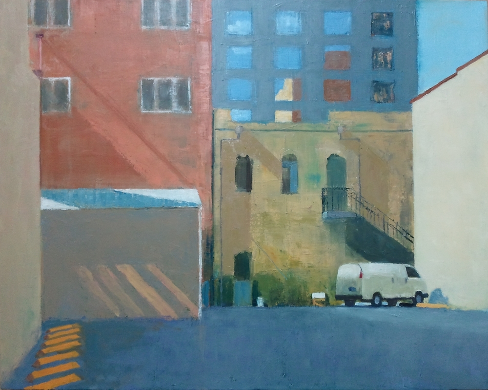 """Urban Mosaic,"" 24""x30"", oil on canvas."
