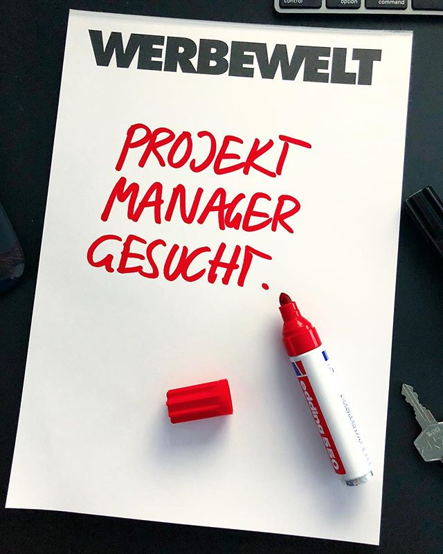 Mann/Frau - wir freuen uns auf deine Bewerbung - link in Bio. #jobs #stuttgart #werbeagentur #projectmanager  #projectmanagement #projectmanagers #creativeagency #kreativagentur #jobsearch #joinus #stellenangebot #agencylife