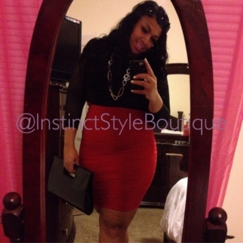 "Ms. Alaska looking gorgeous in our ""Red Hott"" skirt!  @alaska_26s"
