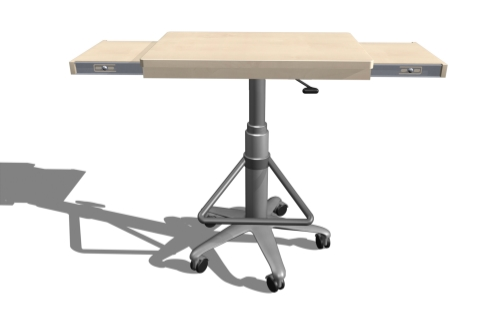 SolidWorks model of workstation.