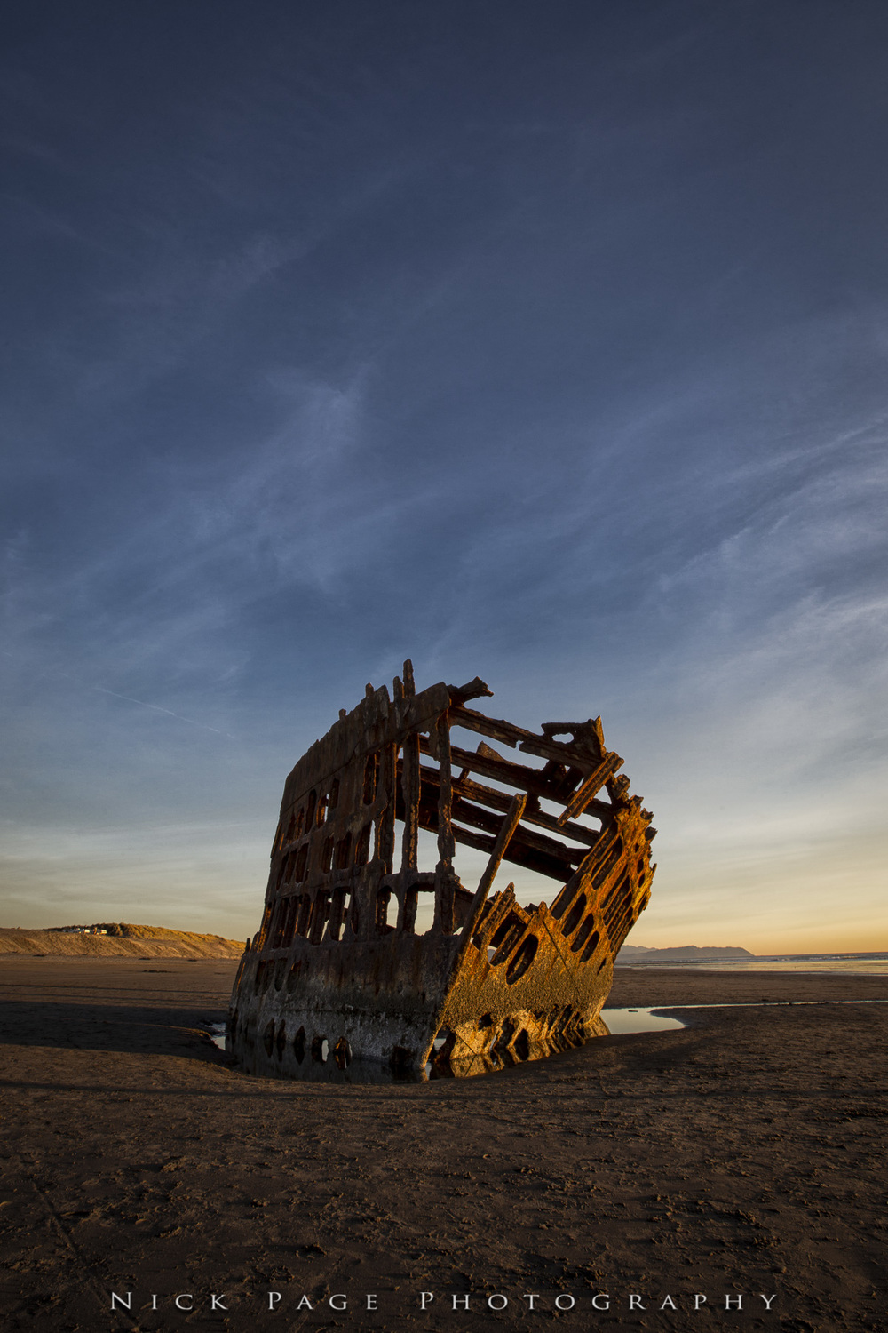 pre sunset Peter Iredale
