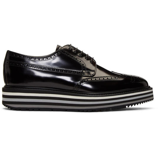 Prada Black Creeper Brogues