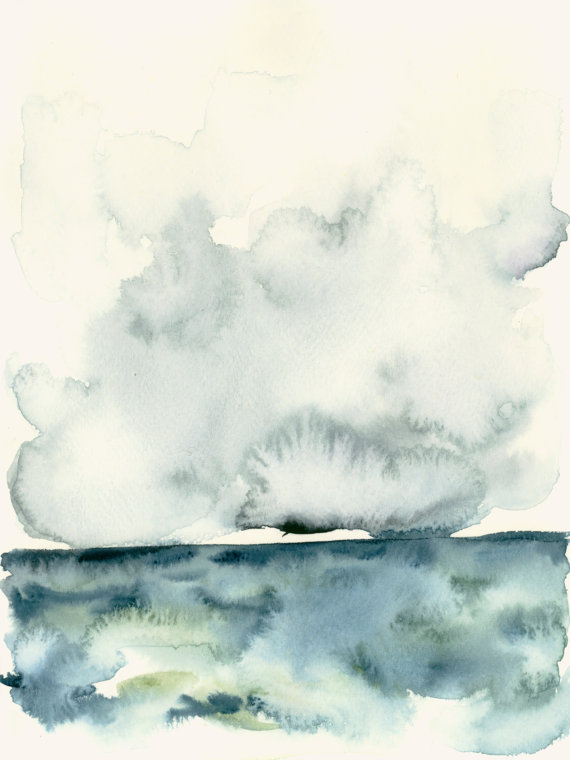 I love these little, ethereal watercolors from Etsy shop, DearCatherina.