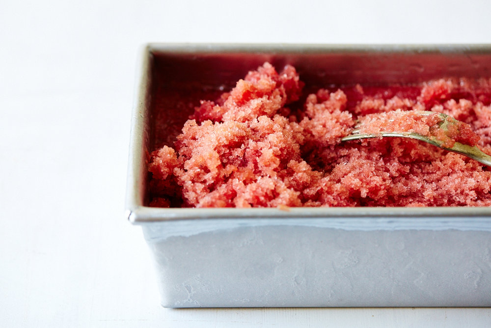 Hibiscus Watermelon Granita with ginger & Lime (GF, V+)