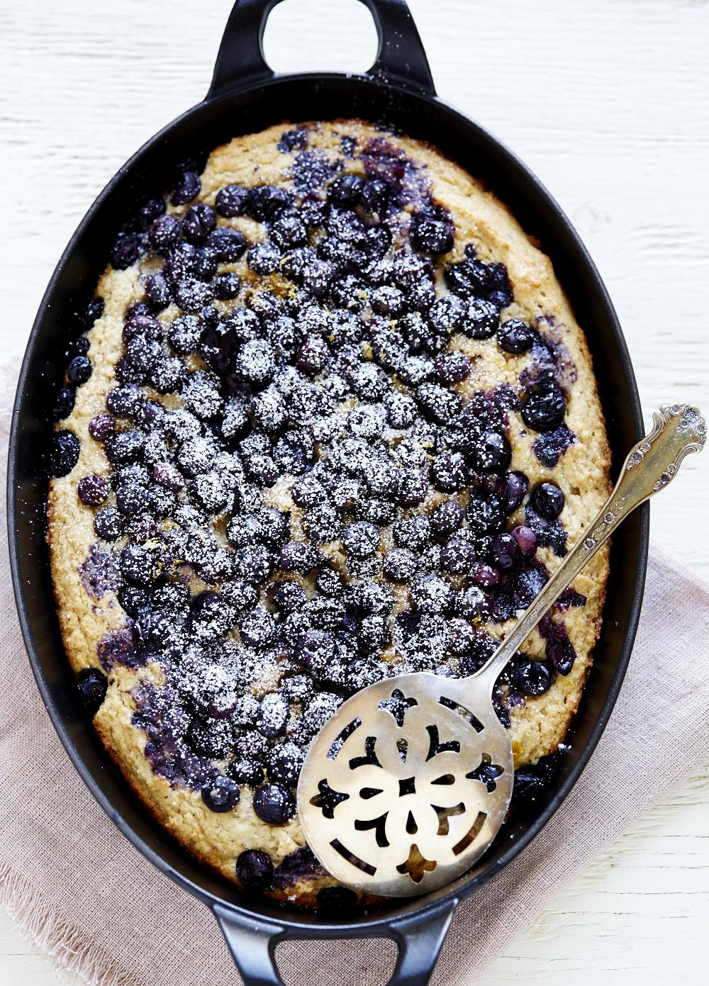 Blueberry Ricotta Skillet Cake (GF, V)