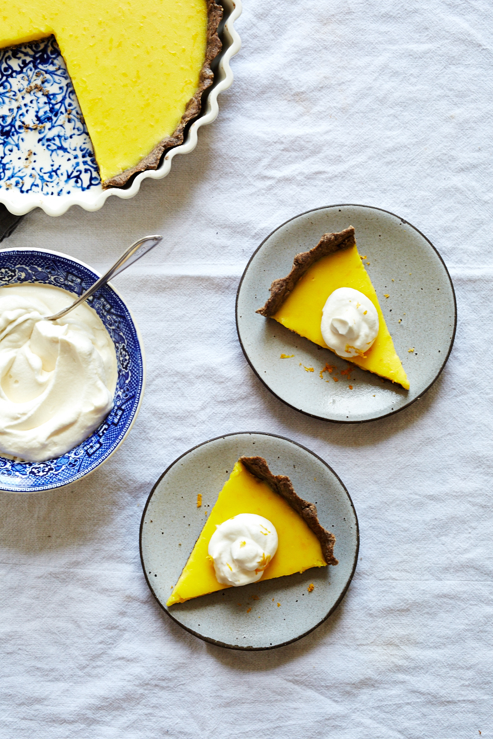 Meyer Lemon Buckwheat Tart (GF, V)