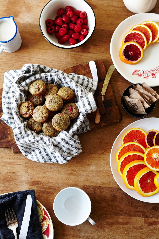 Raspberry Cornmeal Muffins (GF, DF)