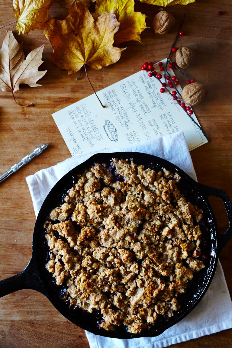 Mixed Berry & Sweet Cherry Crumble w/ Walnuts (GF)