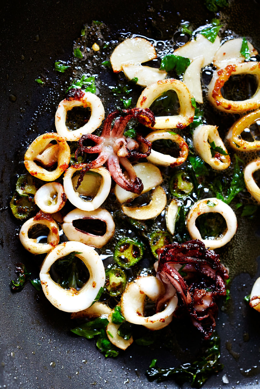 Seared Squid with Serrano & Lime (GF, DF)