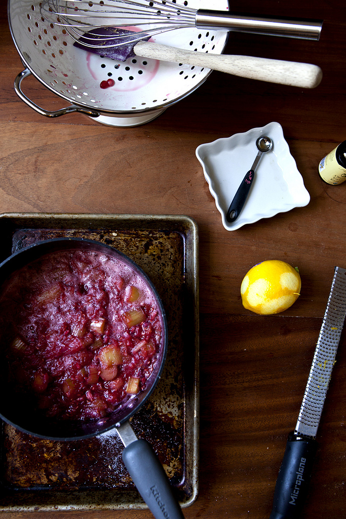 Rhubarb, Red Fruit & Meyer Lemon Compote (GF, V+)