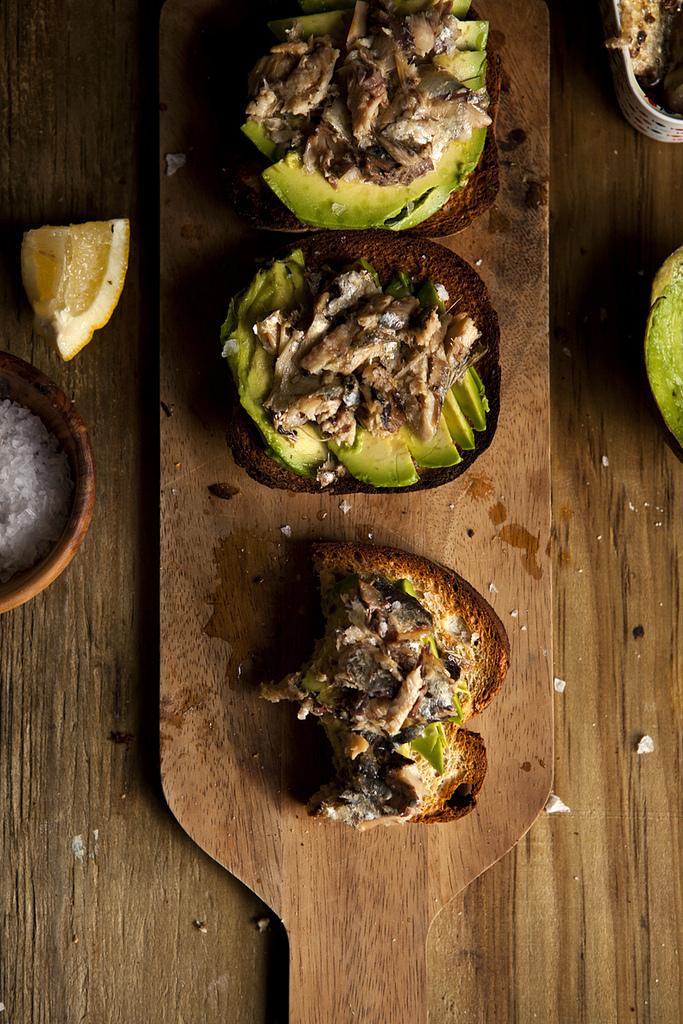 Sardine & Avocado Mash Tartine