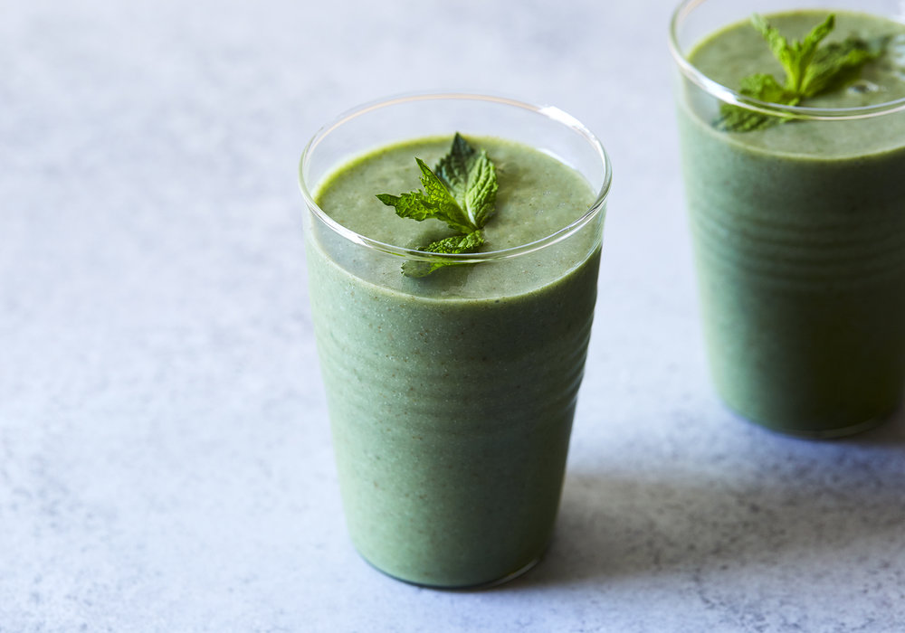 Tropical Mint Green Smoothie (GF, V+)